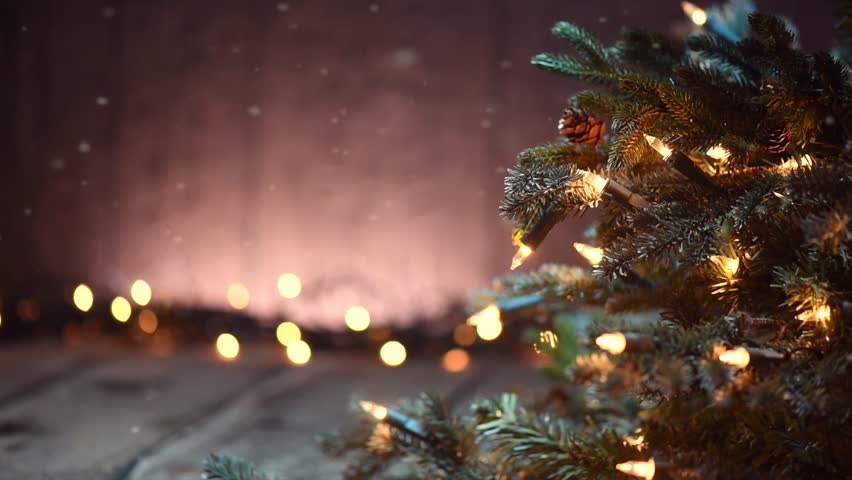 Xmas Rustic Background Stock Video Footage 4k And Hd