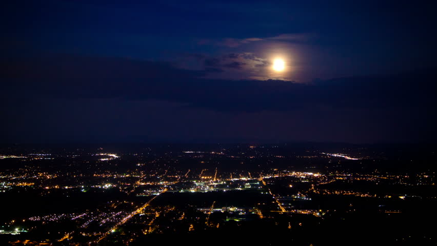 Capturing the moon during its biggest time of the year at Point Park in Chattanooga.