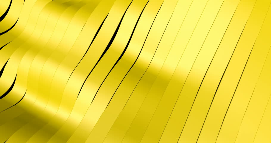 Animated Abstract Yellow Wavy Bands