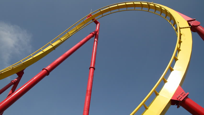 Roller coaster with blue sky | Shutterstock HD Video #2803306