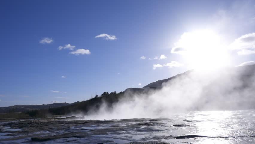 Erupting of a geysir in Iceland | Shutterstock HD Video #28070236