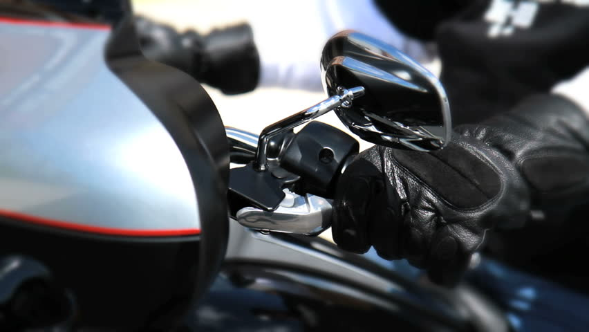 Motorcycle Revving Engine - Black Gloves