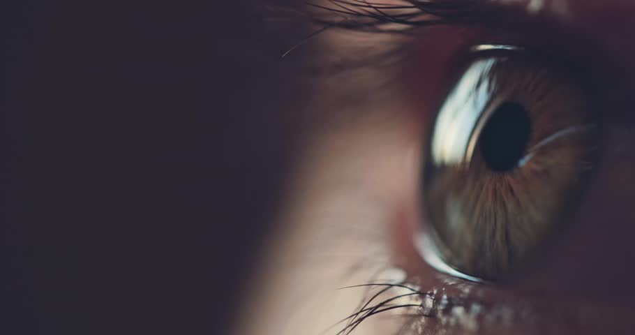 Macro Close-up eye blinking. Slow Motion, 120 fps. Young Woman is opening and closing her beautiful eye. #28142716