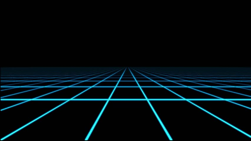 Retro Futuristic Seamless Loop Stock Footage Video