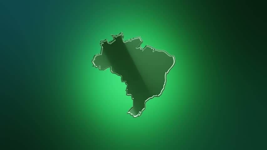 Map of brazil the cities in which the world cup takes place royalty 3d animation rotation of symbol of brazil map from glass animation of seamless loop gumiabroncs Gallery