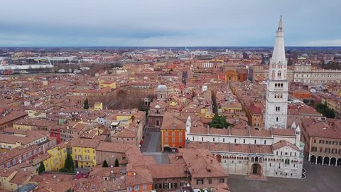 modena cathedral aerial view