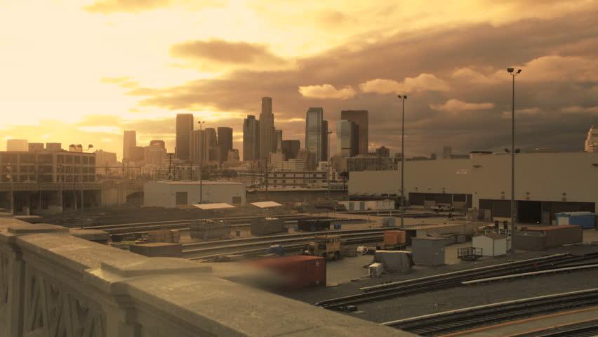 Los Angeles Sunrise Skyline Time lapse