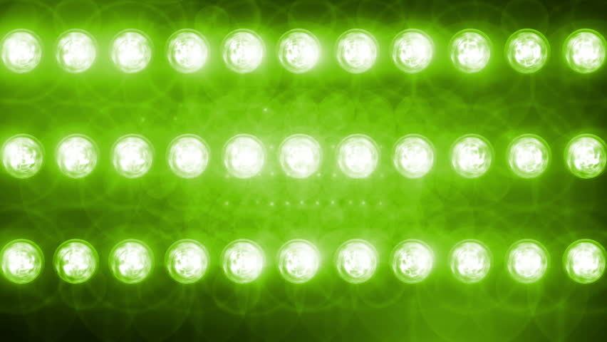 green Flashing lights