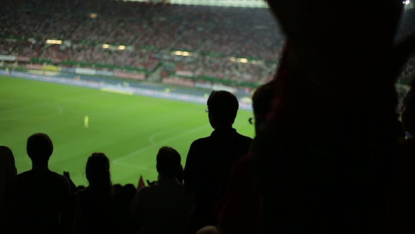 Soccer fans in stadium | Shutterstock HD Video #2822728