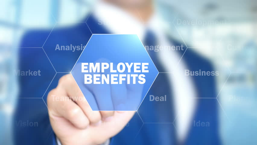 Employee Benefits, Man Working on Holographic Interface, Visual Screen   Shutterstock HD Video #28228126