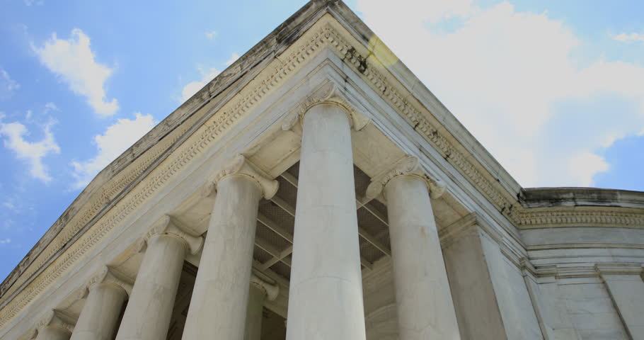 WASHINGTON DC - Thomas Jefferson Memorial, 4k Arc Shot, 3 Axis Gimbal.
