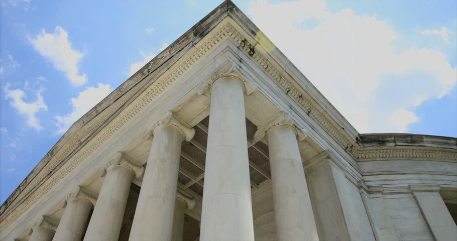 WASHINGTON DC - Thomas Jefferson Memorial, SLOW 4k tracking shot, 3 Axis Gimbal.