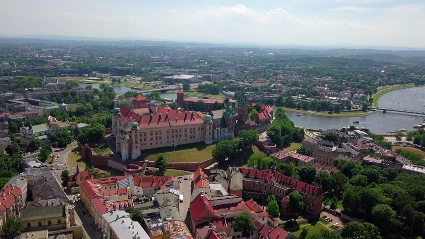Cracow old town video