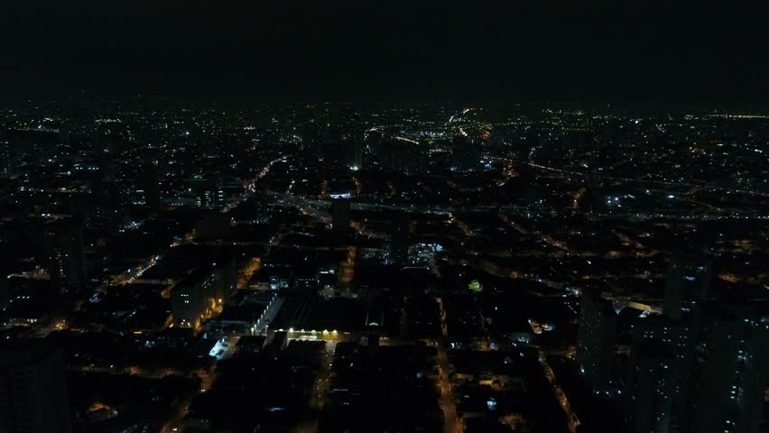 Aerial View of Sao Paulo city at Night, Brazil | Shutterstock HD Video #28329706