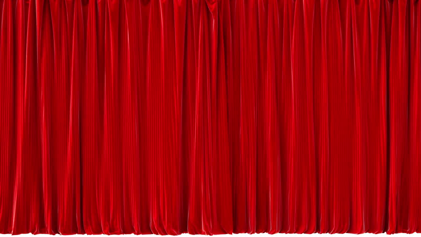 Opening Red Theater Curtains. with Stock Footage Video ...