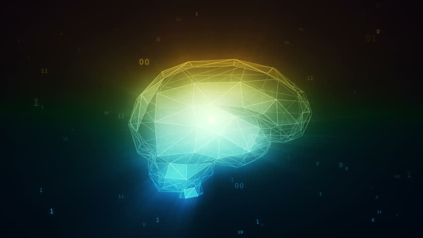 Digital artificial intelligence brain in cloud of binary data   Shutterstock HD Video #28439056