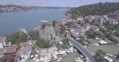 Anatolia,  Aerial Drone Plane Anadolu Hisari