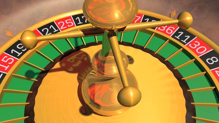 Casino Roulette Wheel rotating in loop. 3D Rendering. 4K | Shutterstock HD Video #28474024