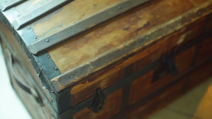 Magic treasure chest, knowledge concept