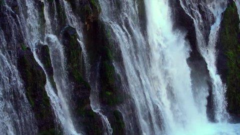 Waterfall at McArthur-Burney Falls State Park, California, slow motion