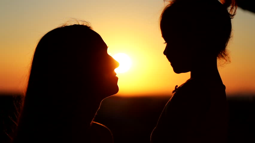 mom and baby girl silhouette wwwpixsharkcom images