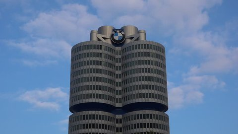 Bmw World Welt and Headquarters Stock Footage Video (100