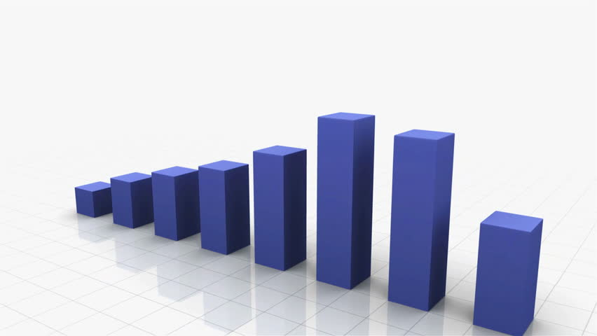 3D Growing Business Chart in Blue. Different variations of this file as well as many other business related animations available in my Contributor Gallery. | Shutterstock HD Video #2870281