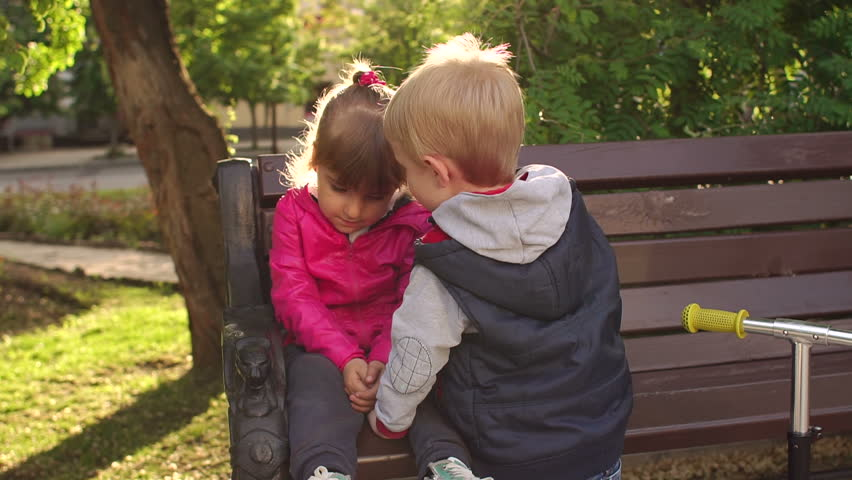 Brother Kissing Little Sister Stock Footage Video ...