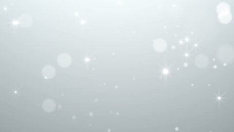 Fairy White Particles Abstract Christmas Background With Stars