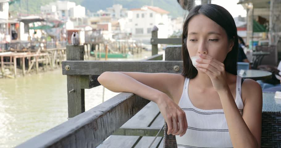 Woman in Tai O village in Hong Kong