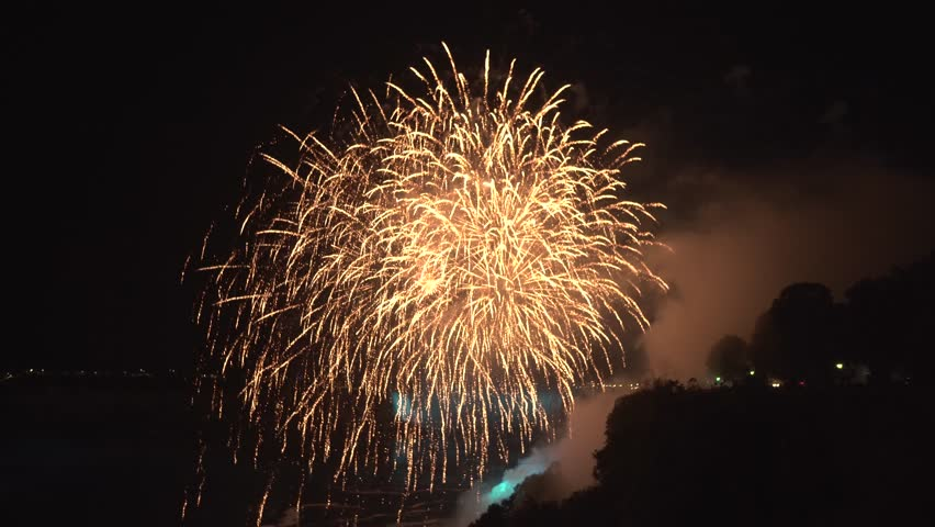 Fireworks at Niagara Falls in Canada