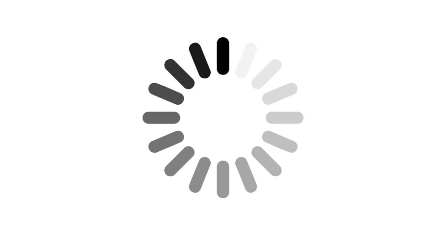 Animation loading icon. Preloaded circle. Not responding icon on white background. 4K loop video footage.