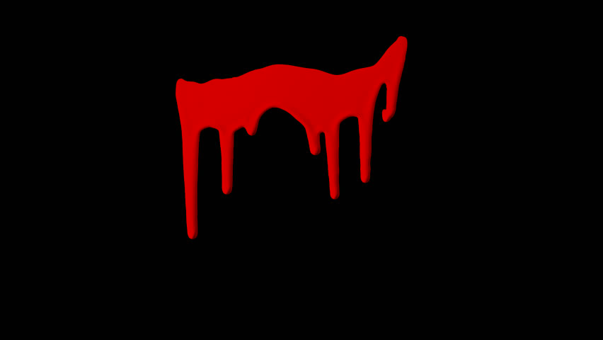 Organic Dripping Blood Element with alpha channel for any compositing software: ready for your VFX shot, title sequence, or that Halloween montage, crime scenes, and horror films.