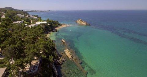 Above White Rocks beach, near famous Platis Gialos beach and Makris Gialos beach in Argostoli, Kefalonia, Greece