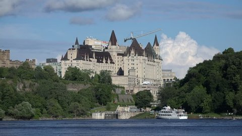 July 19, 2017 - Ottawa, Ontario Canada - Chateau Laurier on the Ottawa river