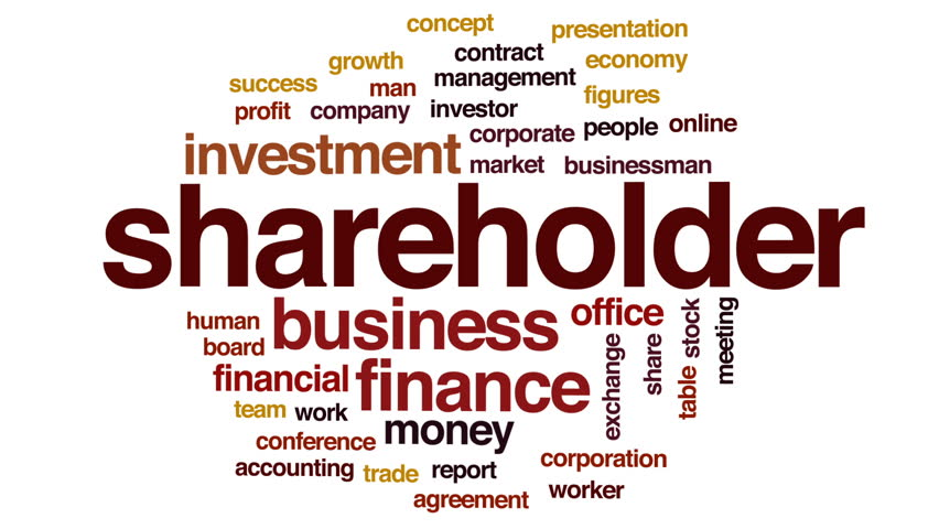 Shareholder animated word cloud, text design animation.   Shutterstock HD Video #28964086