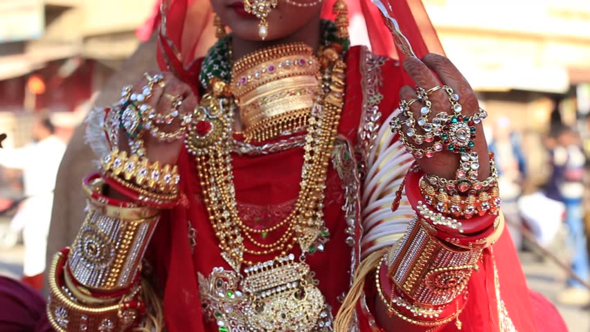 Beautiful Hand Decorated With Henna Style Of An Indian Bride Jaisalmer India