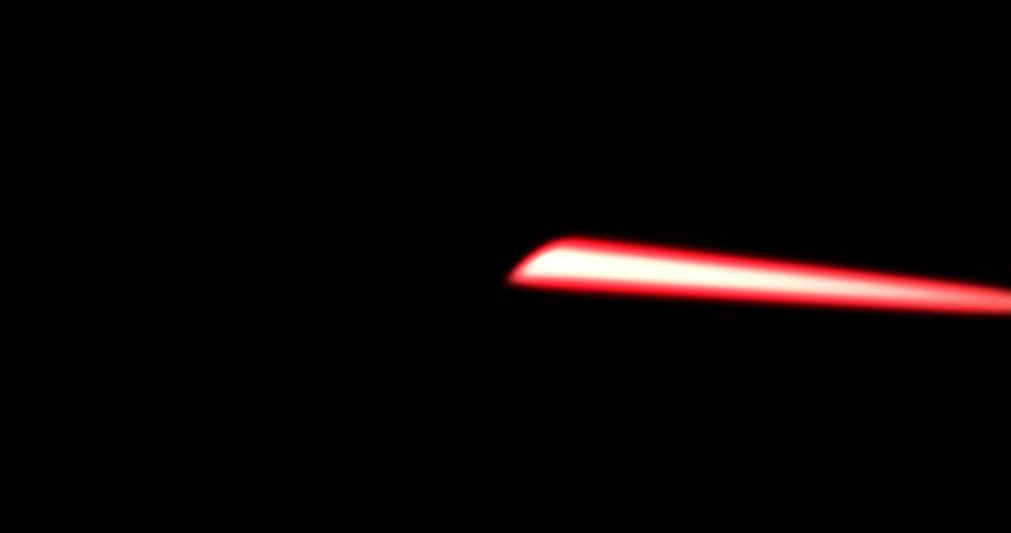 Sci Fi Film Elements - CG Laser rifle tracers firing sideways
