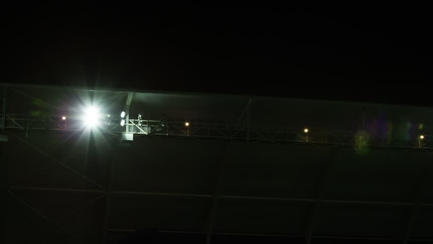 Wide shot of stadium lights | Shutterstock HD Video #28990216