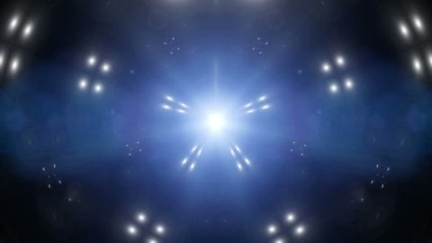 Spectrum lights Concert shows Spot Bulb Background motion fractal design Abstract Animated Motion Graphic,Fractal blue kaleidoscopic background Disco spectrum light concert spot bulb Light Tunnel loop
