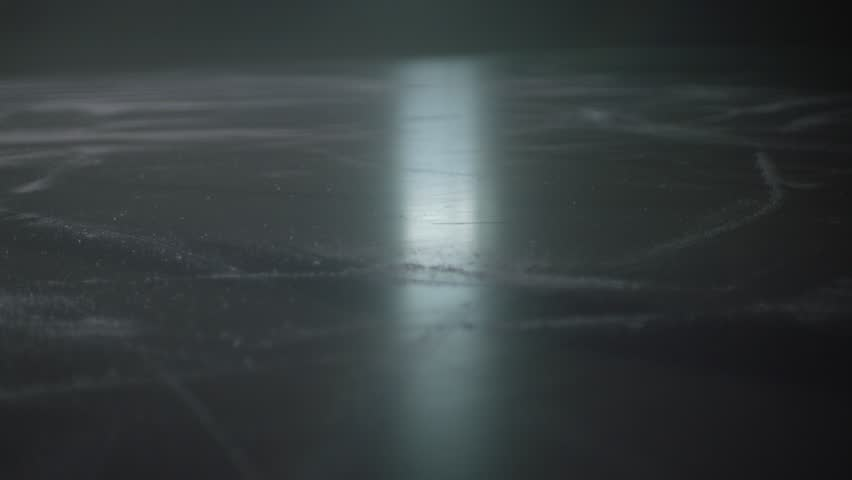 Slow motion point of view shot of ice in a hockey arena.  | Shutterstock Video #29029777