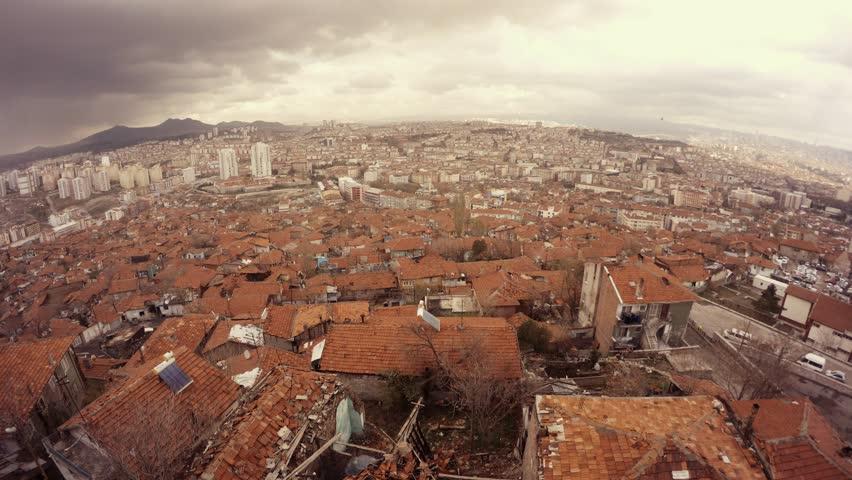 Ankara Capital of Turkey Cityscape Early Spring