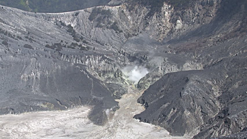 Tangkuban Perahu volcano in West Java Indonesia