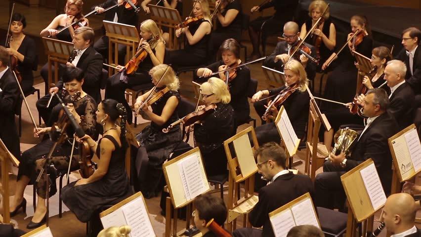 KHARKIV, UKRAINE, 29 JUNE 2017 : Concert of the symphony orchestra. Tuning tools
