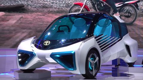 28 March 2017. Bangkok, Thailand.Toyota FCV Plus concept on display at the 38th Bangkok International Auto Show at the Impact Centre.