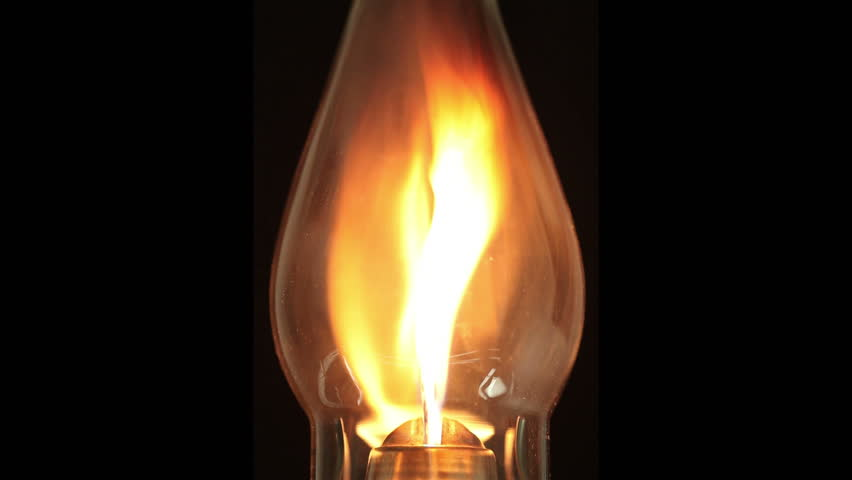 Animated Burning Lamp Oil : Dynamic graphic animation using paper cutout styled