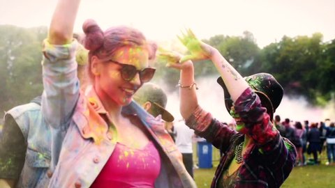 Dancing with the best friends at the festival