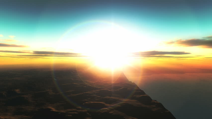 Planet fly sunrise   Shutterstock HD Video #2910916
