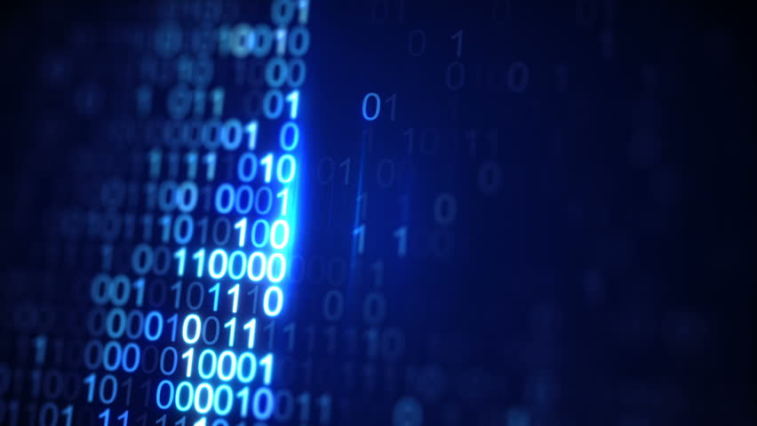 Scanning digital blue binary data code. Abstract information technology concept. Computer generated seamless loop animation. Close-up shot rendered with DOF 4k UHD (3840x2160) | Shutterstock HD Video #29140855