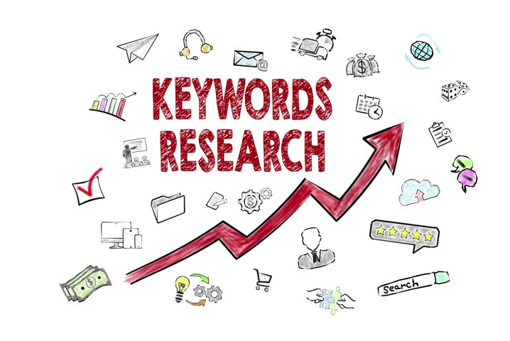 Keywords Research concept. Icons on white background | Shutterstock HD Video #29156176